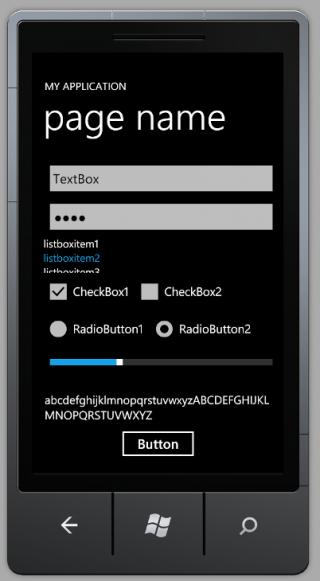 Windows Phone 7 Components 1