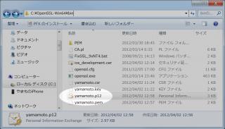 p12 file created
